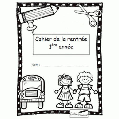 Cahier d'activités de la rentrée scolaire pour les élèves de 1re année