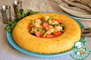 Рисовое кольцо с овощным рагу