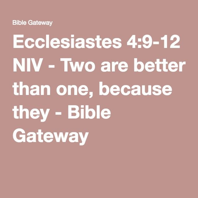 17 best ideas about ecclesiastes 4 9 12 on pinterest