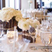 Twig centerpieces. Photo by www.erinbrooke.com.