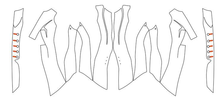 assassin's creed coat pattern -