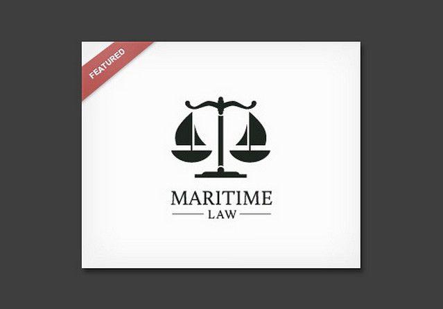 Знак содержит все, чтобы быть понятным и без подписи. Кстати Maritime Law обозначает «Морское право». Весы Немезиды — ясно читаемый символ закона и правосудия, а чаши весов (они же — корпуса судов) и нити — такелаж и паруса, представляют морской аспект.