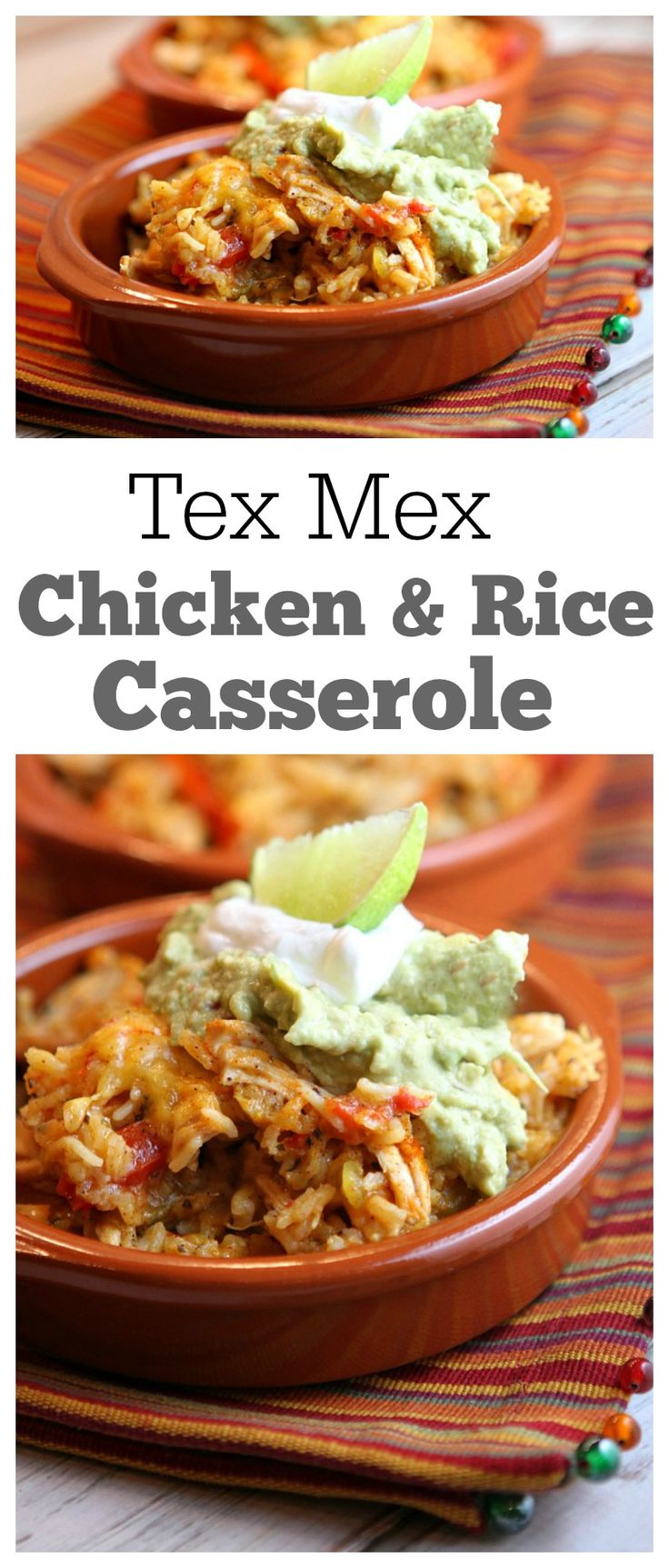 Tex Mex Chicken and Rice Casserole recipe: a quick and easy, family friendly dinner recipe that people will ask you to make again and again.  I made this recipe 20 years ago when I first got married, so it has been a favorite for a long time!