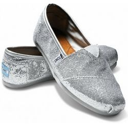 Psst... I know where Cinderella got her glass slippers! They were $72.95 Silver Glitter Toms from Apple Saddlery :)
