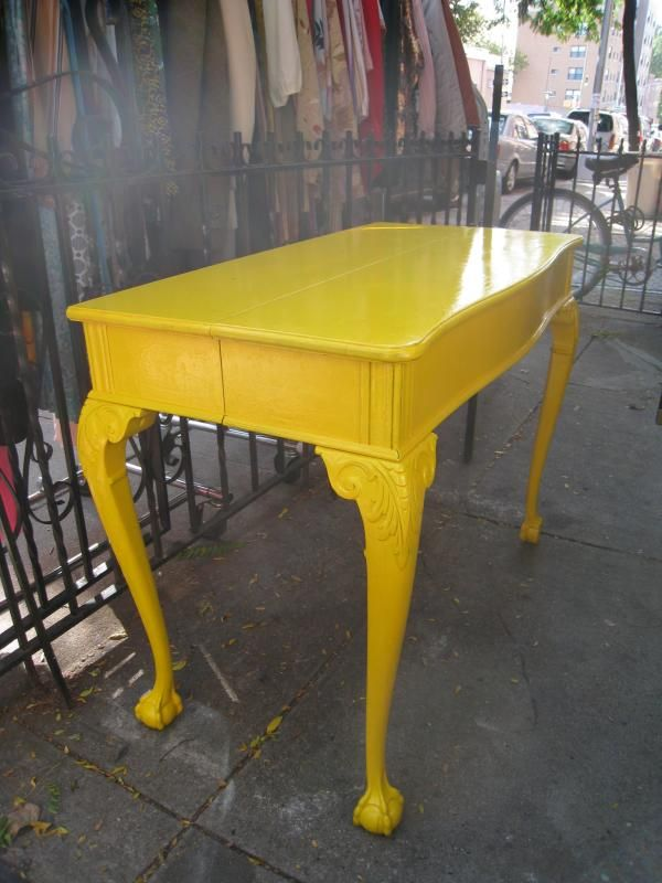 1000 ideas about yellow table on pinterest yellow for Sofa table yellow