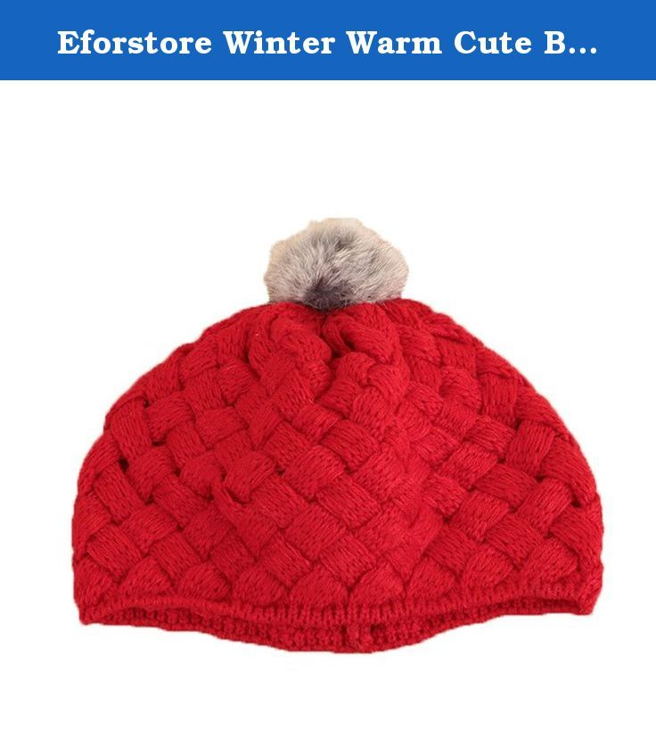 Eforstore Winter Warm Cute Baby Kids Girls Toddler Knit Crochet Rib Pom Pom Hat Cap. Winter Warm Cute Baby Kids Girls Toddler Knit Crochet Rib Pom Pom Hat Cap Suitable for 1-8 years old Elasticity is very big Color:2 Colors available Suitable for season: autumn, winter Package Includes: 1x Kint hat Note: We advice you to measure the size of your baby or child before you buy it. .