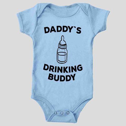 Daddy`s Drinking Buddy baby one piece onesie #baby