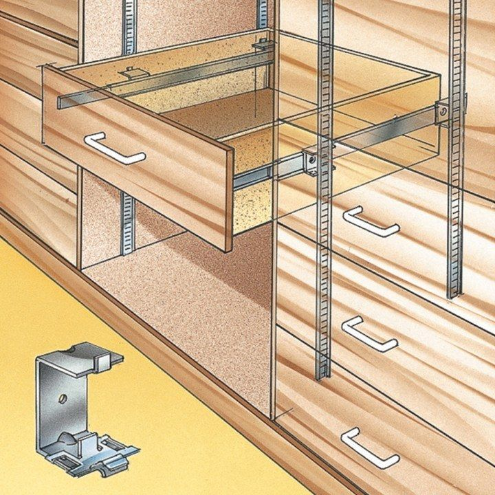 Hardware For Kitchen Cabinets And Drawers: Accuride Shelf Standard Slide Brackets