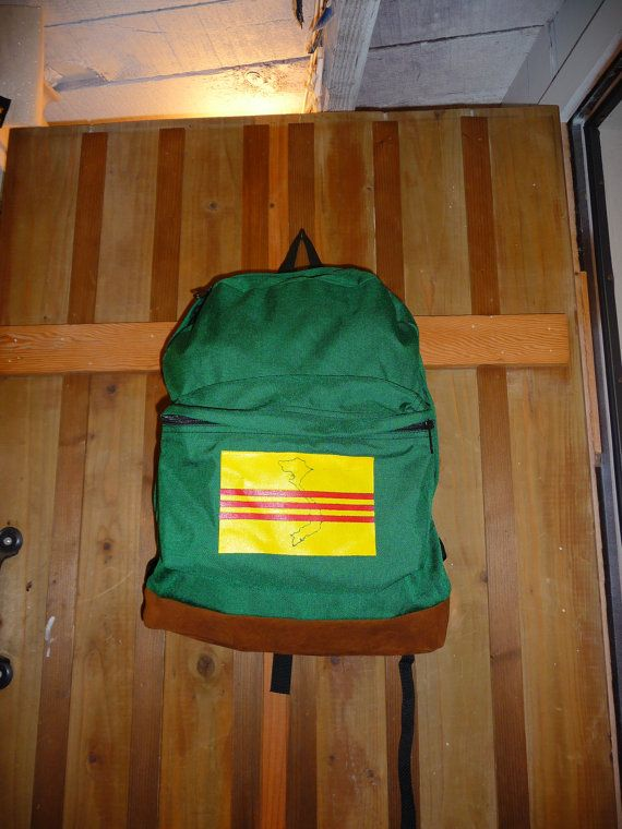 Backpack with South Vietnam Flag made in USA