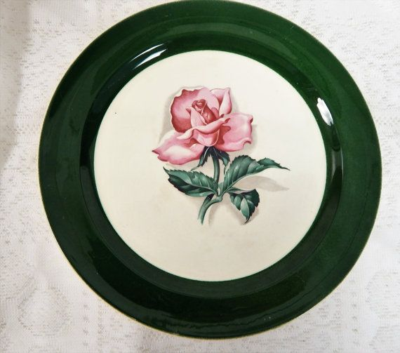 Taylor Smith Taylor Dinner plate  Pink Rose by SwedishGalsAntiques