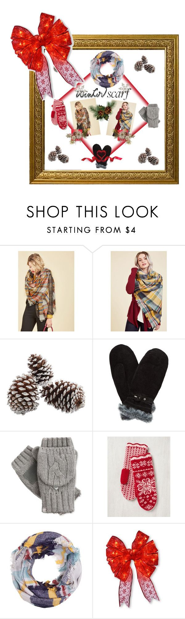 """#winter, #scarf, #neybers"" by kristina-sandvig on Polyvore featuring John Lewis, Isotoner and National Tree Company"