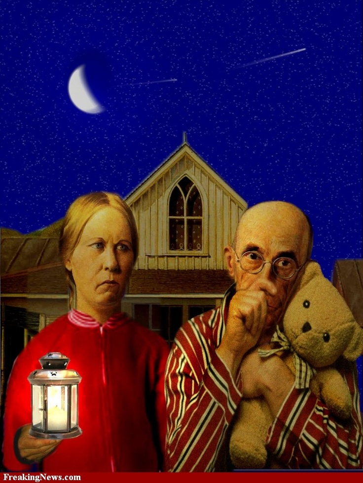 American Gothic, bedtime-style.