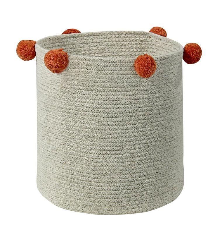 NEW Basket Natural Terracota #washablerugs #lorenacanals #basket #leaf #accesories
