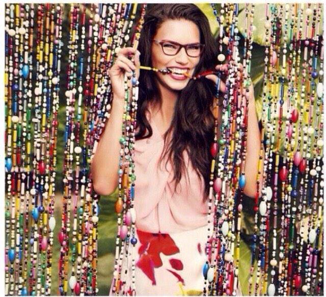 Adriana Lima for Vogue EyeWear SS 2015