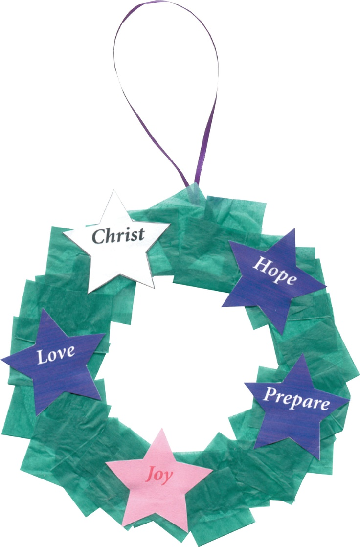 how to make an advent wreath for school