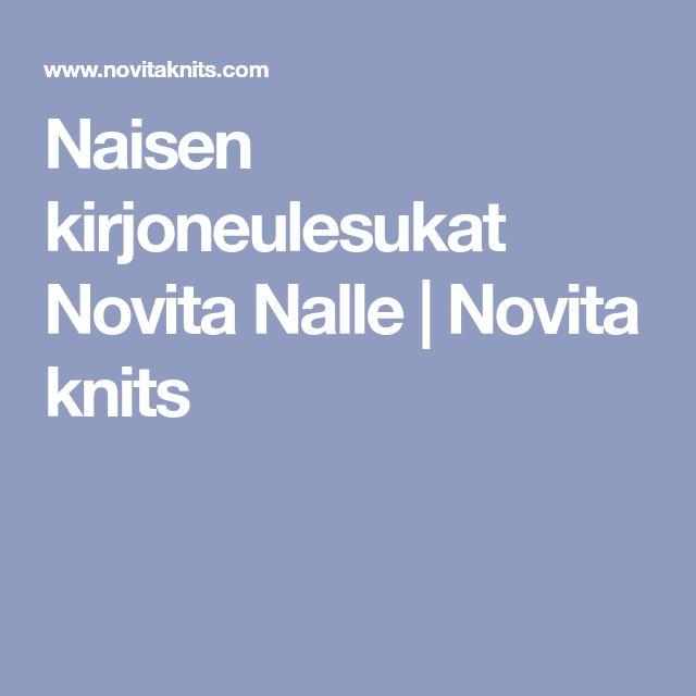 Naisen kirjoneulesukat Novita Nalle   Novita knits