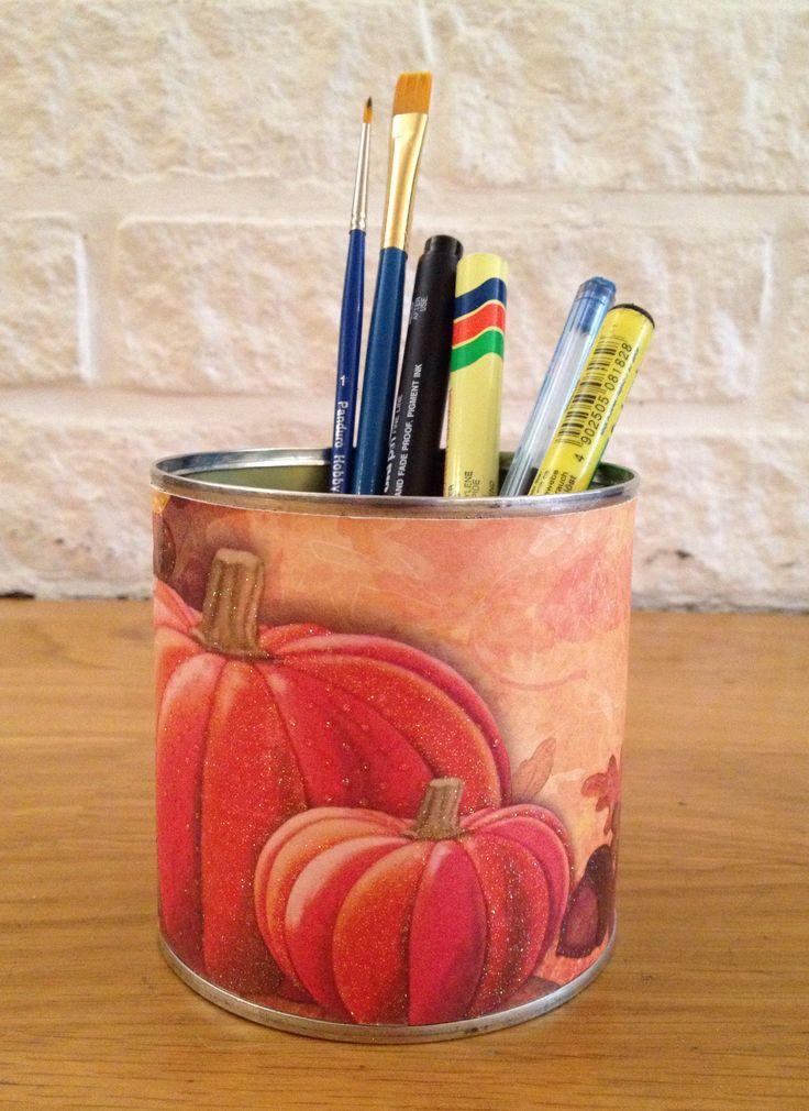 DIY, Pensil holder,  tin / can / box