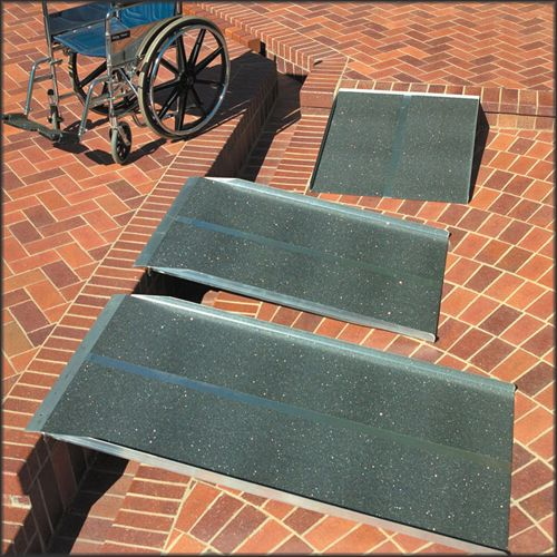 Easy access to almost any area with a portable ramp.