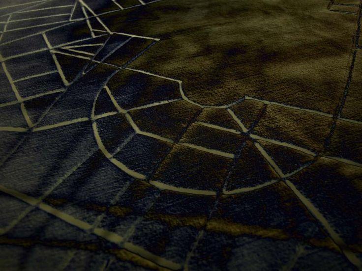 city milano #Questo tappeto è interamente  realizzato a 10mm di altezza e poi intagliato a mano. La serie riproduce le mappe stradali del centro delle più grandi città. http://nodusrug.it/it/collezione_tappeti_scheda.php?ID=CTY