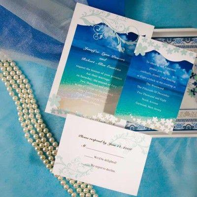 modern seaside summer beach wedding invitations EWI038 |