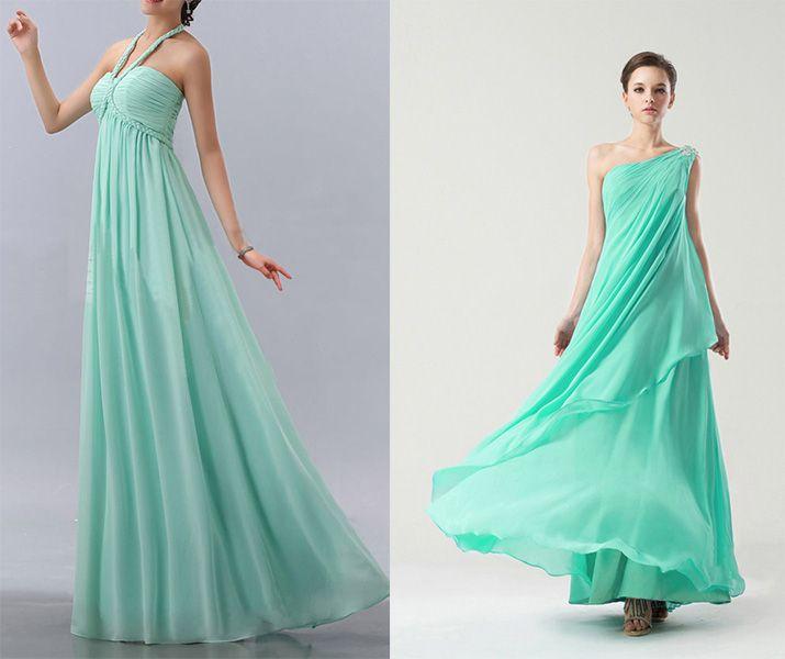 long mint green wedding guest dresses uk