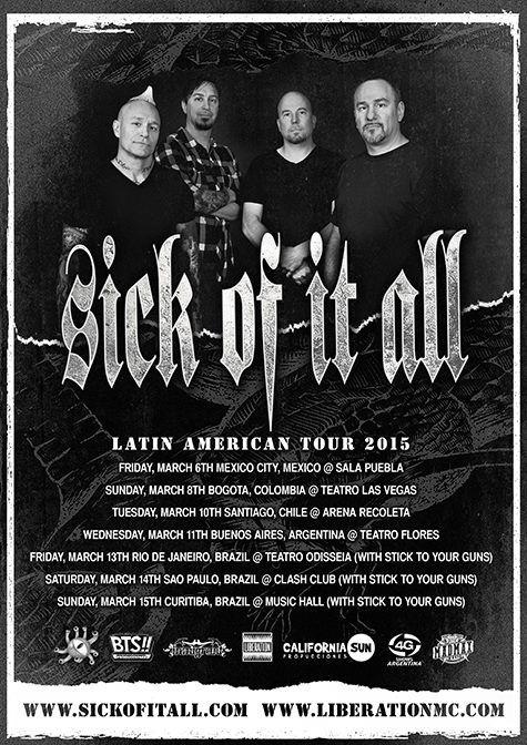 SICK OF IT ALL | Latin American Tour 2015 | 11/03/2015 | Teatro de Flores | Buenos Aires, Argentina