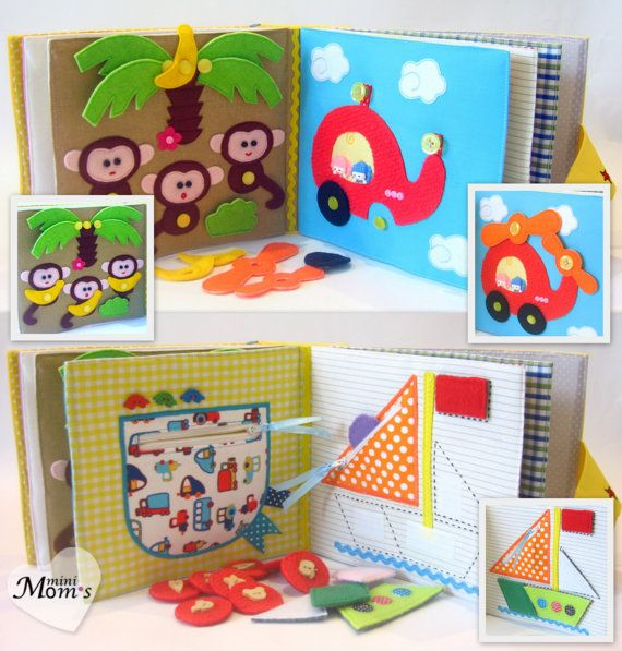 Children's Quiet Book Busy Book Eco friendly Toddler by MiniMoms
