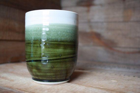 Tumbler - Coffee Mug - Pottery Mug - Wheel Thrown Pottery - Ceramics & Pottery - Mug - Coffee Mugs - Handmade Pottery Mug - KJ Pottery