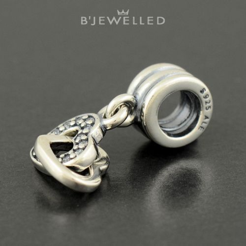 Authentic Genuine Pandora Sterling Silver with CZ Interlocking Hearts - 791242CZ
