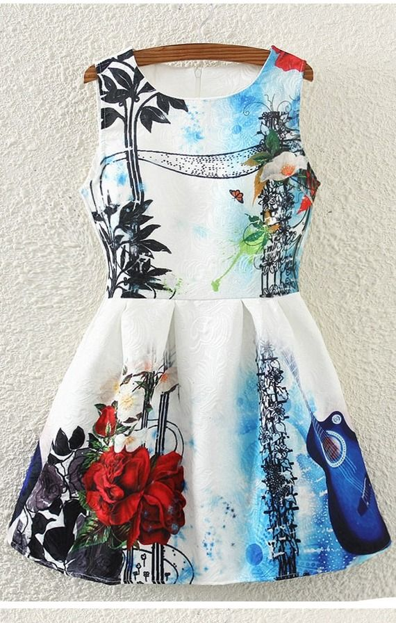 Art Lover Casual Printed A-line Party Dress - at a reasonable price!