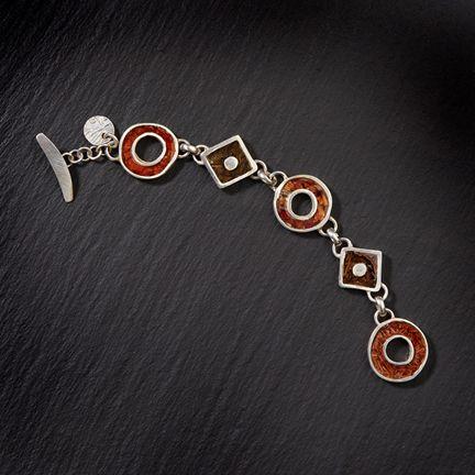 Gravel Pond geometric bracelet by Kristie Miller McMahon.