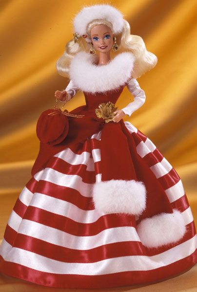 140 best Christmas Barbies images on Pinterest | Christmas barbie ...