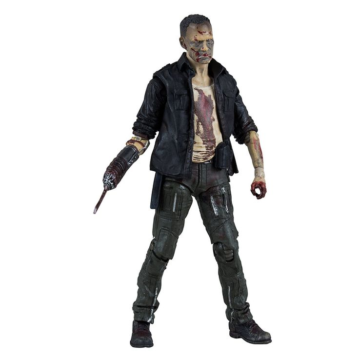 McFarlane Toys The Walking Dead TV Series 5 Zombie Merle Action Figure. Features approximately 22 points of articulation. Includes a prosthetic arm with prison shiv. Features an amazing attention to detail and unique play-action for maximum fun. Collect all 5 figures in The Walking Dead TV Series 5 collection.