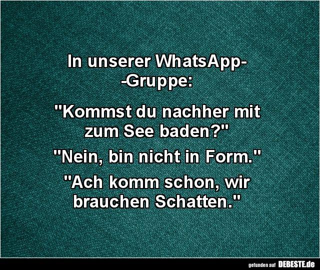 In Unserer Whatsapp Gruppe Lustige Bilder Spruche Witze Echt Lustig Urkomische Zitate Coole Spruche Lustige Spruche