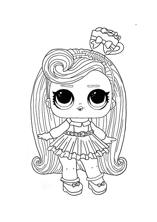 Lol Hairvibes Darling Coloring Page Cool Coloring Pages Unicorn Coloring Pages Star Coloring Pages