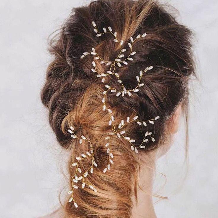 Vrouwen Bruiloft Parels Rijst Graan Vorm Hairsticks Haarspelden Handgemaakte Tiara Haar Sieraden Mode Bruid Hoofd Accessoires Hairwear