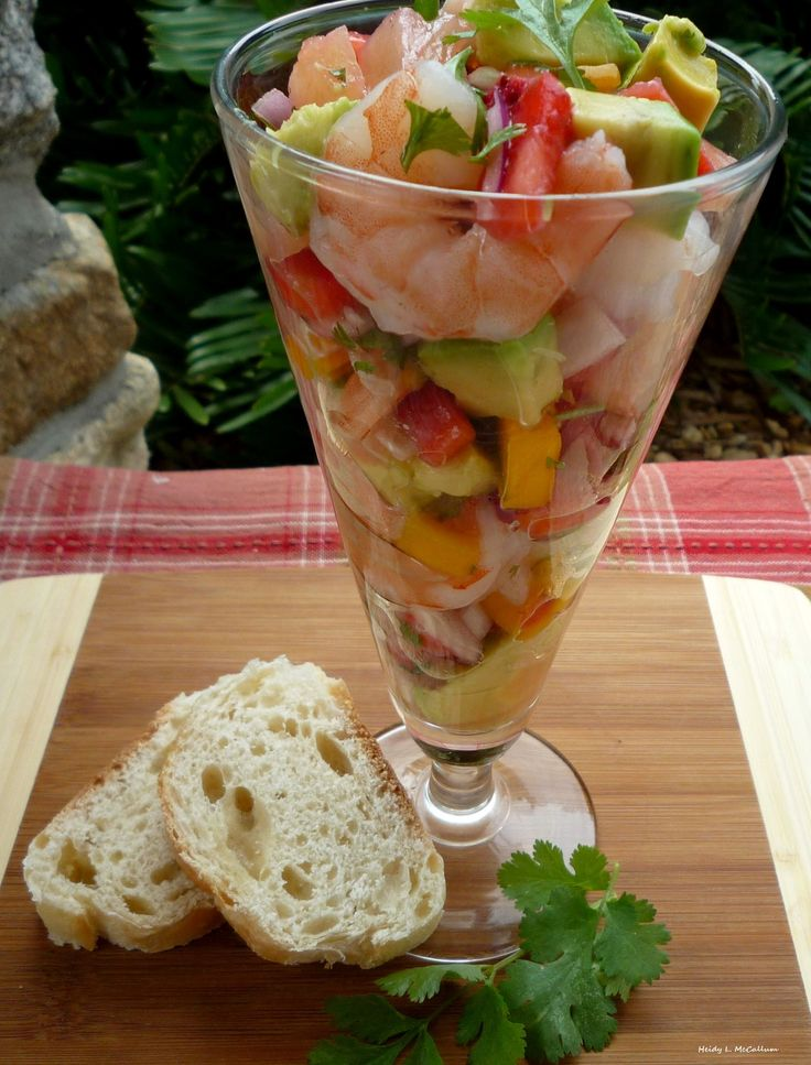 Easy Shrimp Ceviche with Mango, Pineapple & Avocado #latinorecipes, #seafood #appetizer - The McCallum's Shamrock Patch