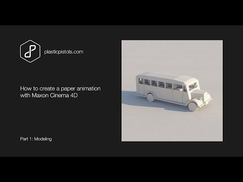 How to create a folding paper animation with C4D - Part 1, Modeling - YouTube