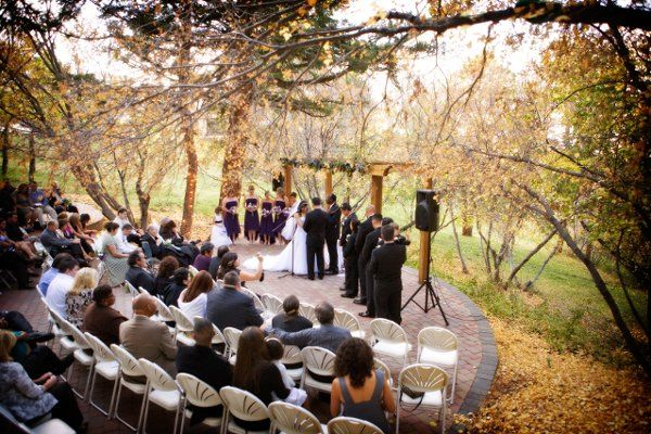 The pines at genesee colorado springs wedding ceremony for Best colorado wedding venues