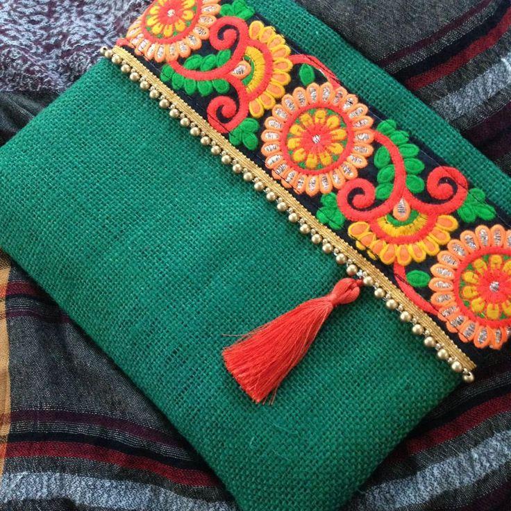 Etnik Jüt Yeşil Çanta Zet.com'da 120 TL