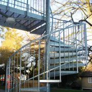 Spiral staircase as a fire escape for a school in Romsey