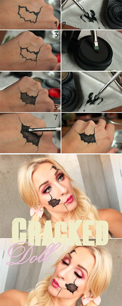 cracked-doll-halloween-makeup-tutorial-hacks-how-to                                                                                                                                                                                 More