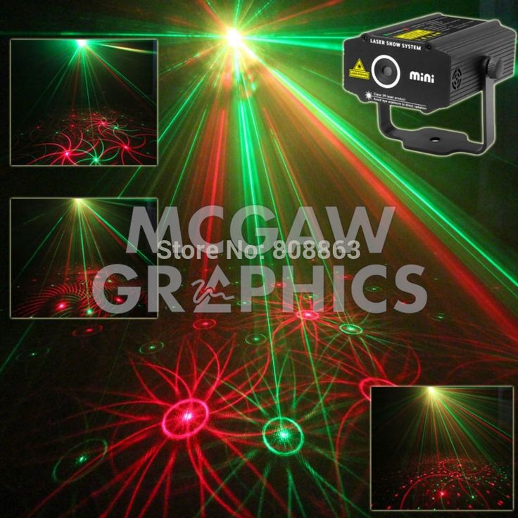 Mini R&G Laser Projector 4 Patterns Sunflower Whirlwind Stage Party Light Show