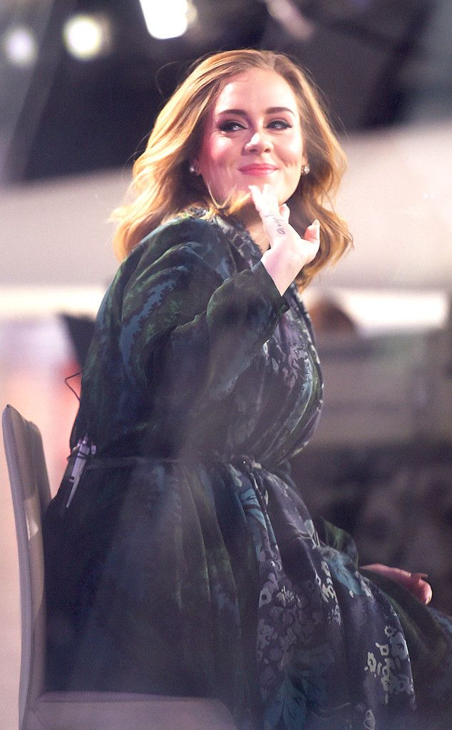 """ADELE The Grammy winner waves """"Hello"""" to fans on her way to an interview and concert on Today. #adele #hello #celebrity"""