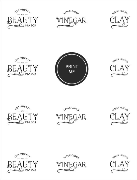 beauty in a box free labels