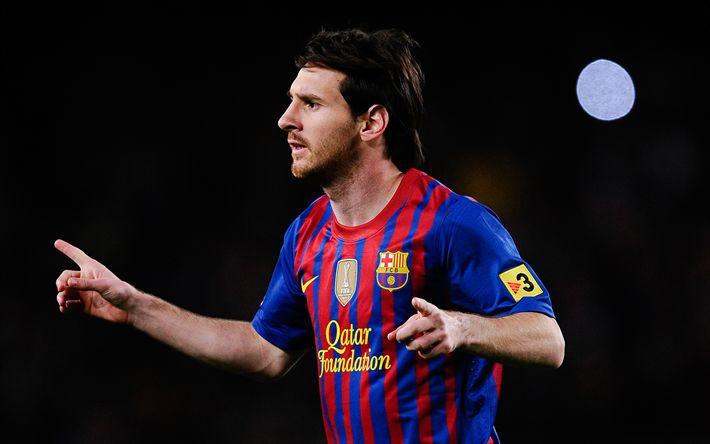 Download wallpapers Lionel Messi, Barcelona, Spain, football, Argentina, Leo Messi, 4k