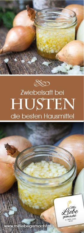 Die besten Hausmittel bei Husten - Zwiebelsaft, der sanft wirkt und auch noch gut schmeckt! #zwiebelsaft #hustensaft #hausmittel #naturapotheke #mitliebegemacht #husten #selbermachen