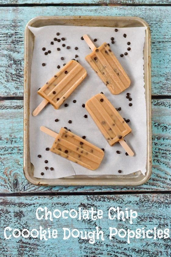 Chocolate Chip Cookie Dough Popsicles (dairy-free, gluten-free, soy-free, vegan, naturally sweetened and amazing!)