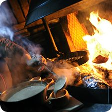 Outdoor cooking at Lapland
