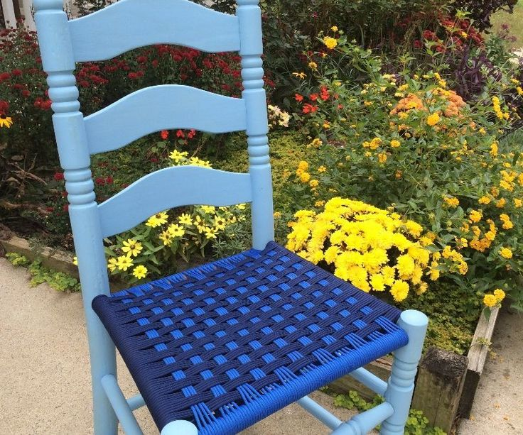 It's fairly easy to find old wooden chairs with broken out seat bottoms. Often the chair frame is solid, but no one is interested in reweaving the rush bottom. When I found 5 old chairs in the rafters of a barn I decided to hack them with paracord! This is a fun project which will add a pop of color to your home. Here's how.